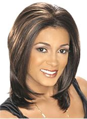 Online Wigs Medium Wavy Sepia African American Lace Wigs for Women