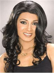 Quality Wigs Long Wavy Black African American Lace Wigs for Women