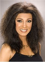 Noble Medium Kinky Sepia African American Lace Wigs for Women
