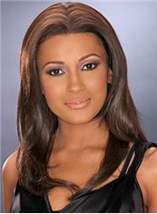 2015 Cool Medium Wavy Brown African American Lace Wigs for Women