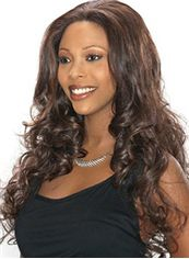 Dream Long 24 Inch Wavy Brown African American Lace Wigs for Women