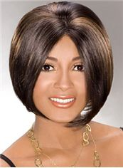 Sexy Short Straight Brown African American Lace Wigs for Women