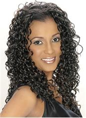 Hot Medium Curly Sepia African American Lace Wigs for Women