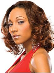 Ingenious Medium Wavy Brown African American Lace Wigs for Women