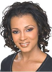 Gracefull Short Wavy Sepia African American Lace Wigs for Women
