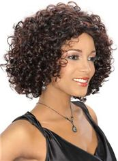 Quality Wigs Short Curly Brown African American Lace Wigs for Women