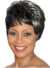New Short Wavy Black African American Wigs for Women 8 Inch