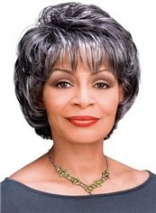 Cheap gray african american wigs
