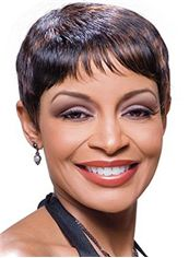 Exquisite Short Straight Gray African American Lace Wigs for Women 6