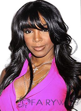 Stunning Long Wavy Black African American Wigs for Women