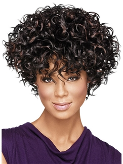 Chic Short Curly  African American Wigs for Women 10 Inch