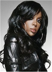 Wholesale Long Wavy Black African American Lace Wigs for Women