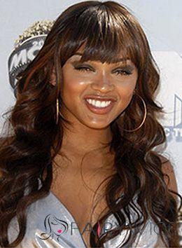 Vogue Wig Long Wavy Brown African American Wigs