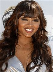 Vogue Wig Long Wavy Brown African American Wigs