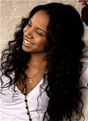 Noble Long Wavy Black African American Lace Wigs for Women