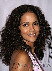 Impressive Medium Curly Sepia African American Lace Wigs for Women