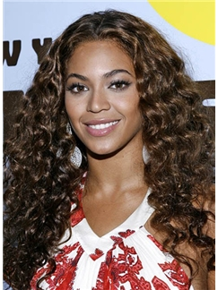2013 Cool Long Wavy Brown African American Lace Wigs for Women