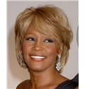 Sweety Short Wavy Blonde African American Capless Wigs for Women