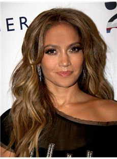 Classic Long Wavy Brown African American Lace Wigs for Women
