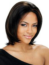 Brazil Medium Straight Sepia African American Lace Wigs for Women