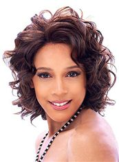 Gorgeous Short Wavy Brown African American Wigs for Women