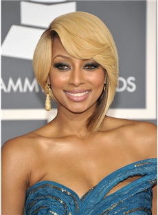 Special Cool Short Wavy Blonde African American Lace Wigs for Women