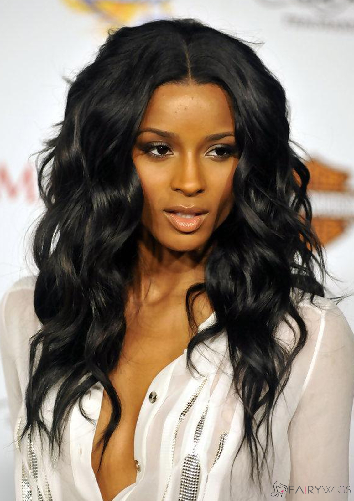 Faddish Long Wavy Black African American Lace Wigs for Women ... d5369a7c97