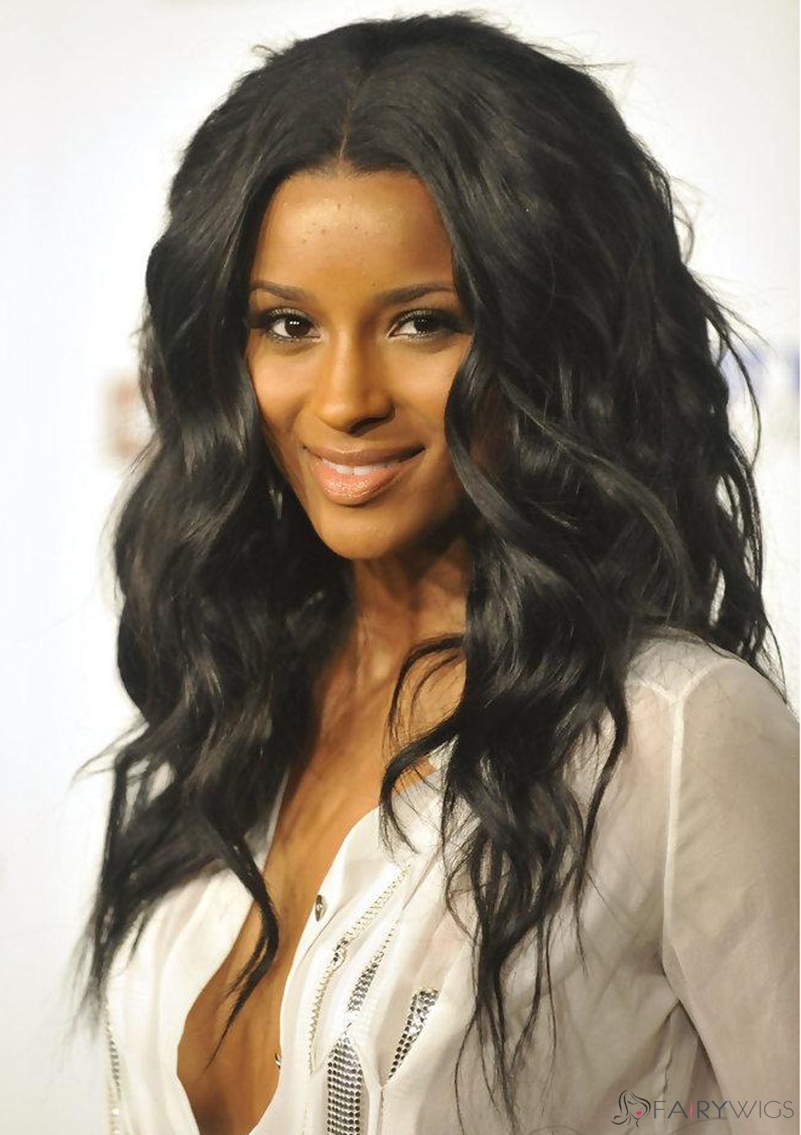 Faddish Long Wavy Black African American Lace Wigs for Women ... 280ff32e4