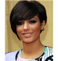 Glamorous Short Straight Black African American Wigs for Women 10 Inch