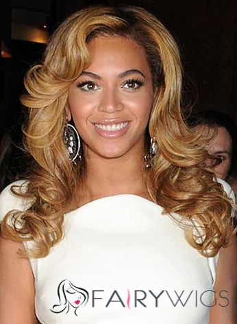 Affordable Medium Wavy Blonde African American Lace Wigs for Women