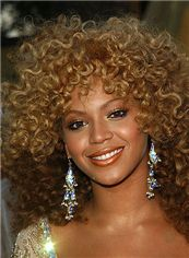 Afro American Wigs Medium Curly Brown African American Lace Wigs for