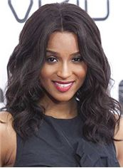 Beautiful Medium Wavy Sepia African American Lace Wigs for Women