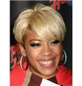 Ancient Short Wavy Blonde African American Lace Wigs for Women 6 Inch