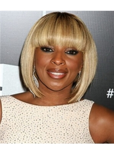 Up-to-date Short Straight Blonde African American Wigs for Women