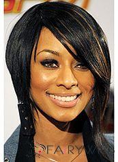 100% Human Hair Black Medium New Fashion Wigs for Black Women 14 Inch