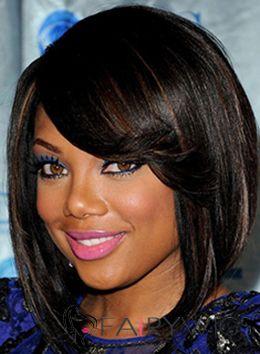 Soft Medium Wavy Black African American Wigs for Women