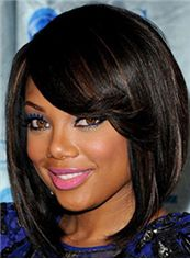 Soft Medium Wavy Black African American Wigs for Women