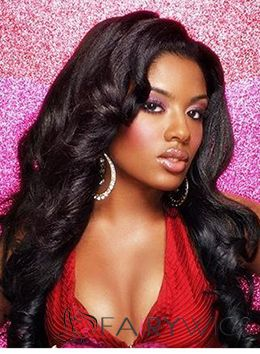 Special Cool Long Wavy Black African American Lace Wigs for Women
