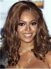 Graceful Medium Wavy Brown African American Lace Wigs for Women
