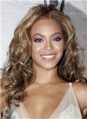 Attractive Long Wavy Brown African American Lace Wigs for Women