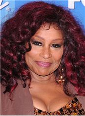 Stunning Medium Wavy Red African American Lace Wigs for Women