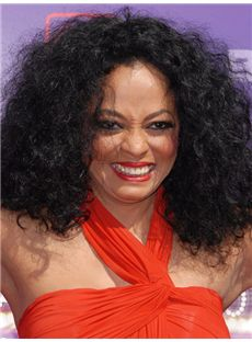 Outstanding Medium Wavy Black African American Lace Wigs for Women