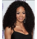 European Style Medium Curly Black African American Lace Wigs for Women