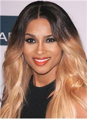 Afro American Long Wavy Blonde African American Lace Wigs for Women