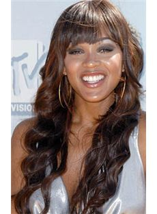 Vogue Wig Long Wavy Brown African American Wigs for Women