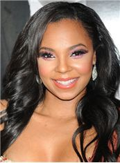 Beautiful Long Wavy Black African American Lace Wigs for Women