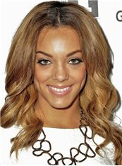Noble Medium Wavy Blonde African American Lace Wigs for Women