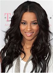 Stylish Long Wavy Black African American Lace Wigs for Women