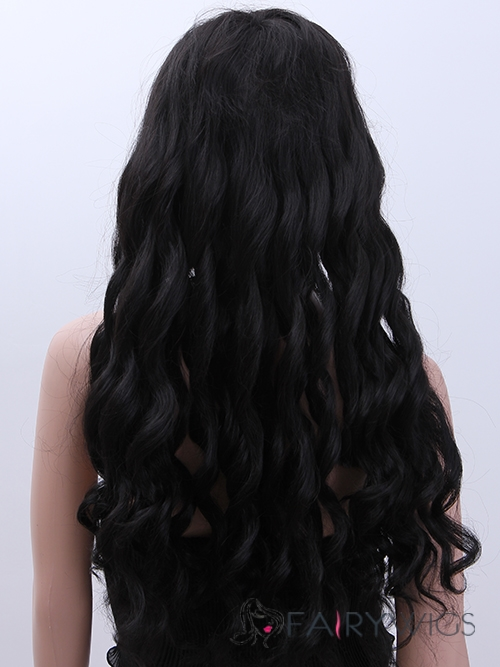 Super Smooth Long Wavy Black African American Wigs for Women