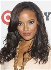 2013 Cool Medium Wavy Sepia African American Lace Wigs for Women